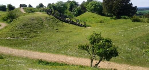 Danebury Ring Hillfort - 'Command Centre'.