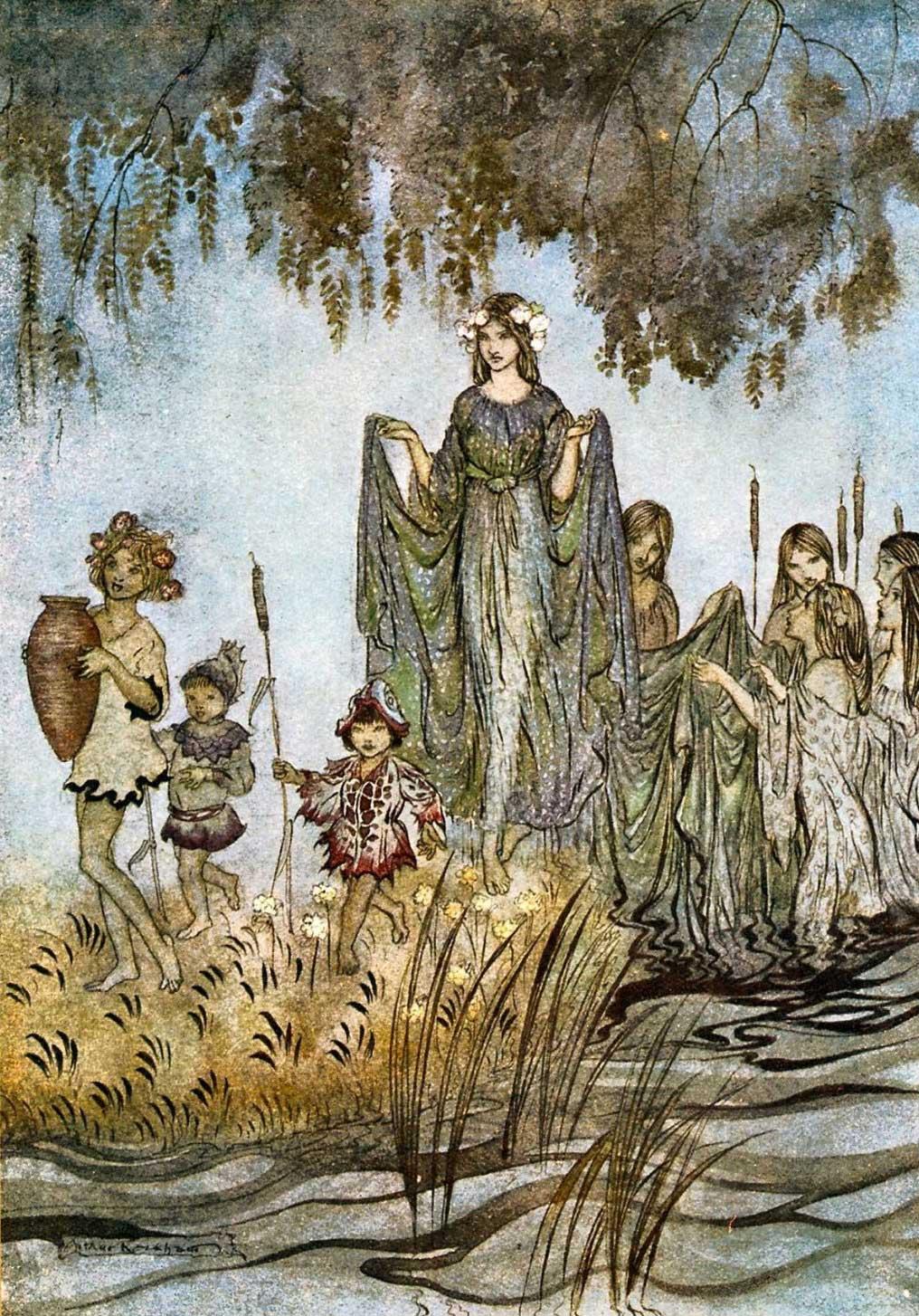 Sabrina Rises, by Arthur Rackham.