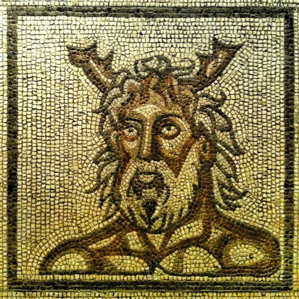 Roman mosaic of Oceanus, Verulamium Museum, St Albans. James Clark.