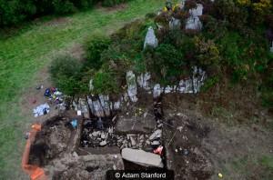 The excavation. © Adam Stanford.