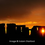 Stonehenge orange sunset