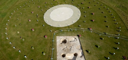 Aerial shot of the Woodhenge with internal ovals highlighted. © Adam Stanford