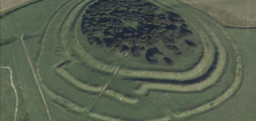 Badbury Rings Hillfort, Dorset.