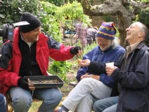 Paul Blinkhorn, at work on the set of Time Team. Image © and kind courtesy of Teresa Hall.